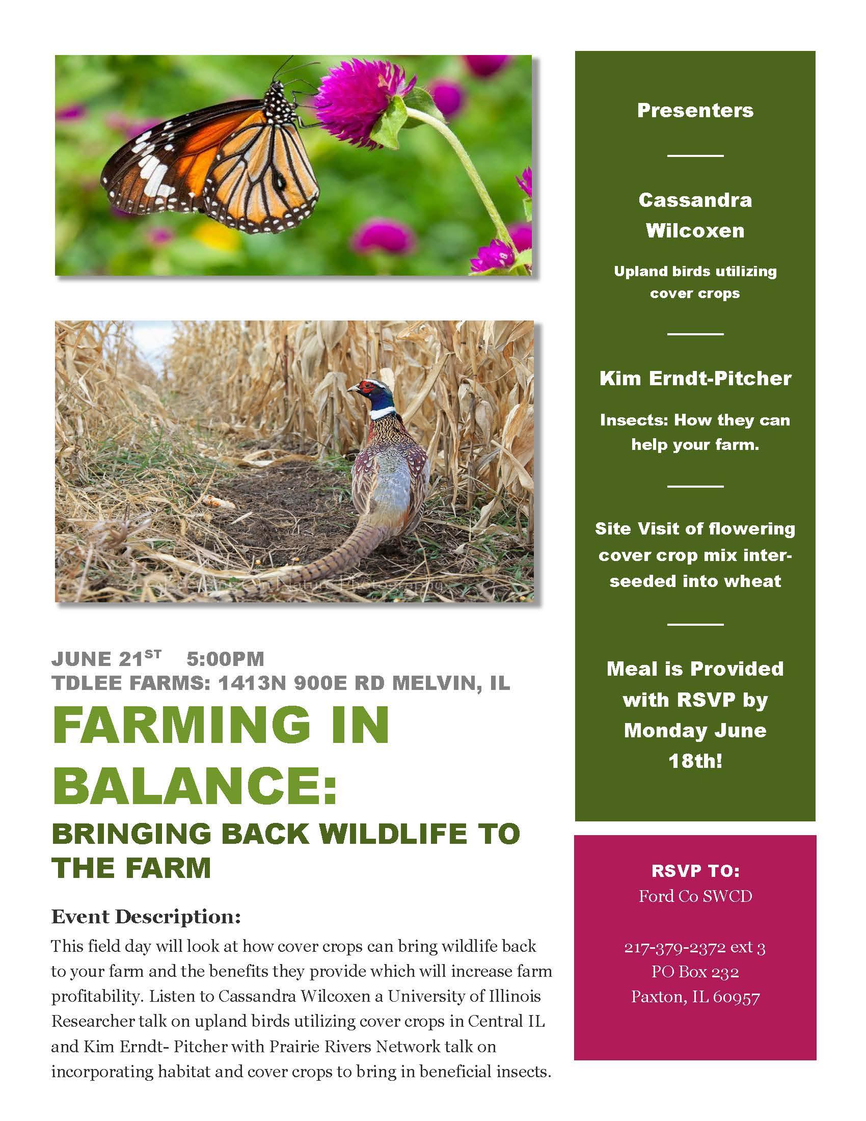 Farming In Balance Bringing Wildlife back to the Farm