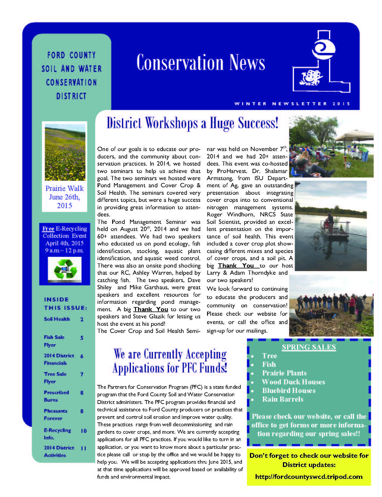 Winter 2015 Newsletter pg 1